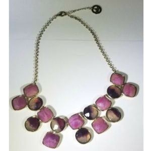 Trifari Puple Gold Tone Bib Statement Necklace